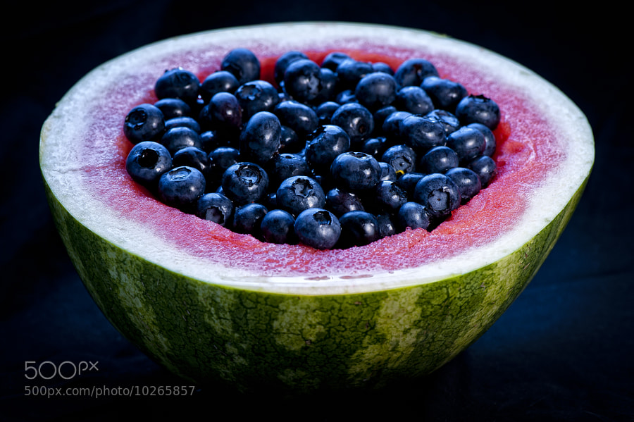 Watermelon Bowl of Blueberries 1 by Jay Scott (jayscottphotography) on 500px.com