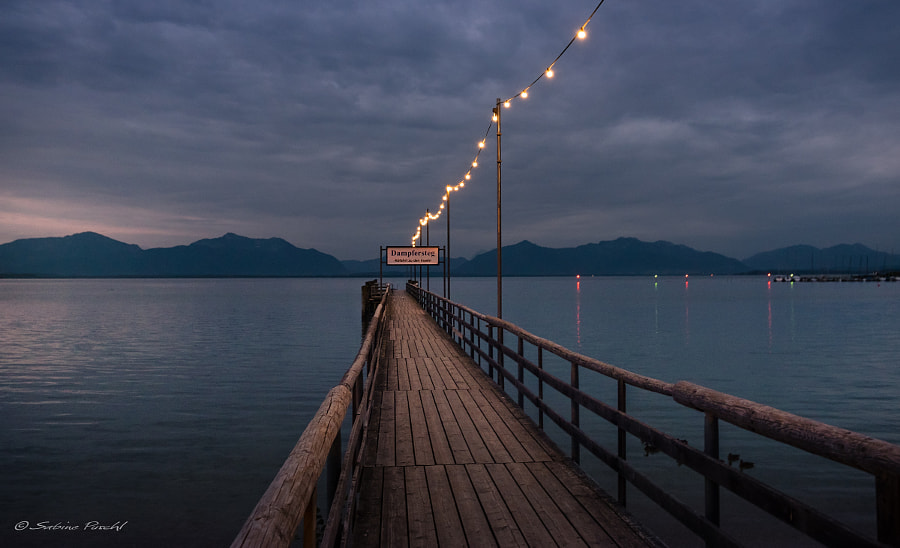 Pier of Seebruck (Bavaria) by Sabine Puschl on 500px.com