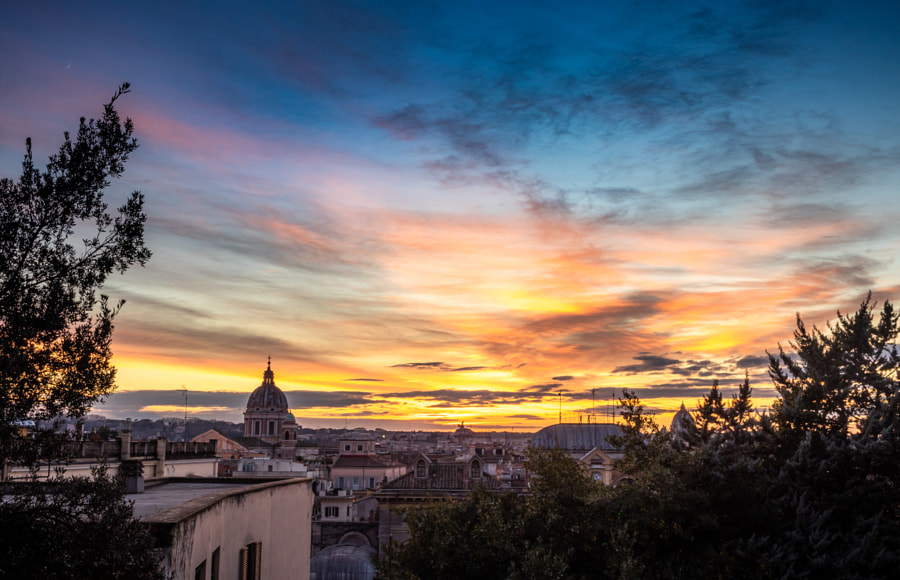 Rome Vintage panoramic view of sunset by Bar Vardi on 500px.com