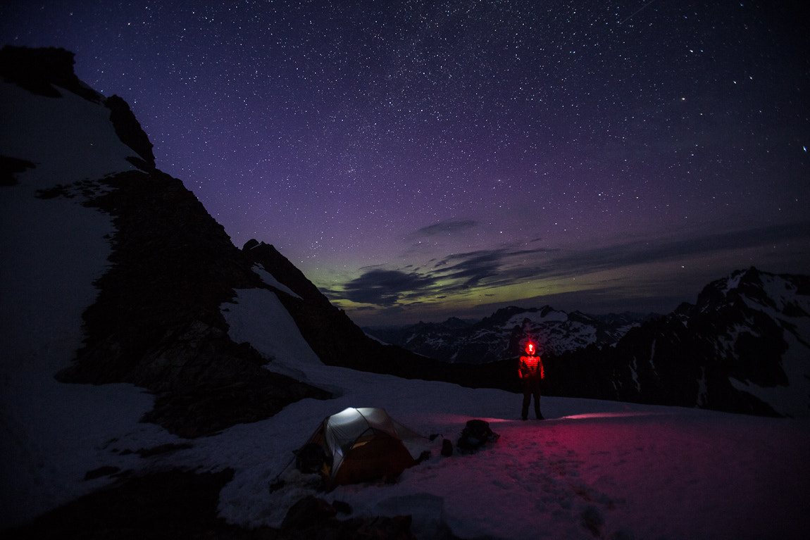 Photograph Aurora creeps in behind me by Luke Humphrey on 500px