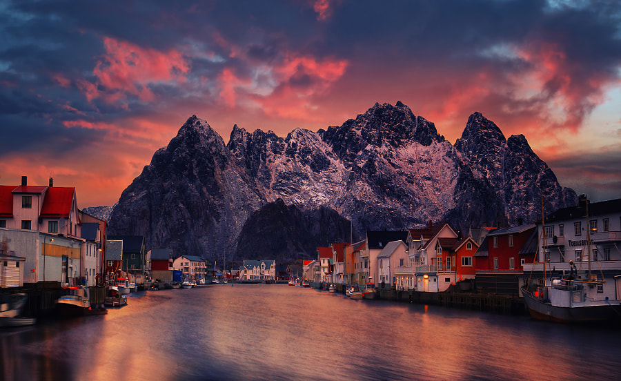 Henningsvaer at sunset  by Yiannis Pavlis on 500px.com