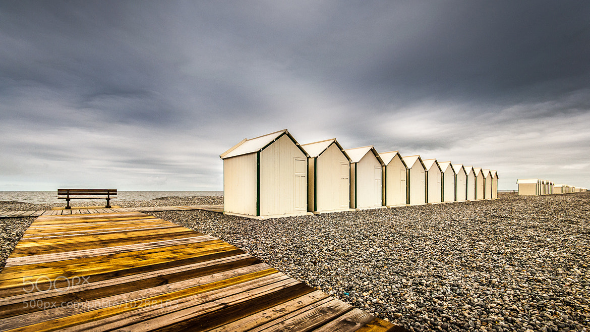 Photograph Cabines, Cayeux-sur-mer by Rudy Denoyette on 500px