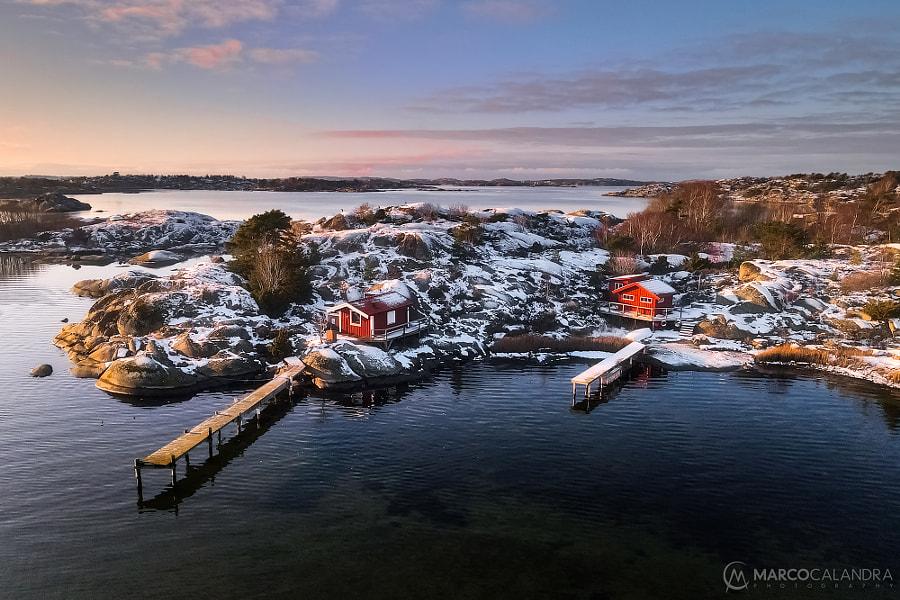 Snow at the coast by Marco Calandra on 500px.com
