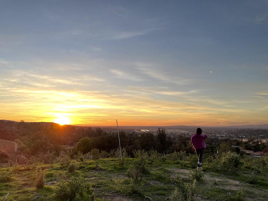 Mặt trời lặn ở Deer Canyon Park - Hướng Tây
