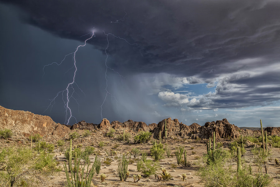 Ajo Arizona Amazing Storm!  by Roger Hill on 500px.com
