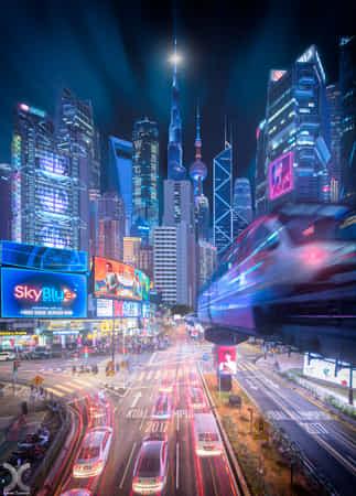 Cyberpunk City by Daniel Cheong