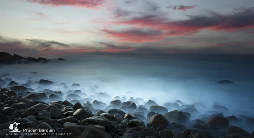 Timid sunset in the stony area of Zumaia by Pruden Barquin