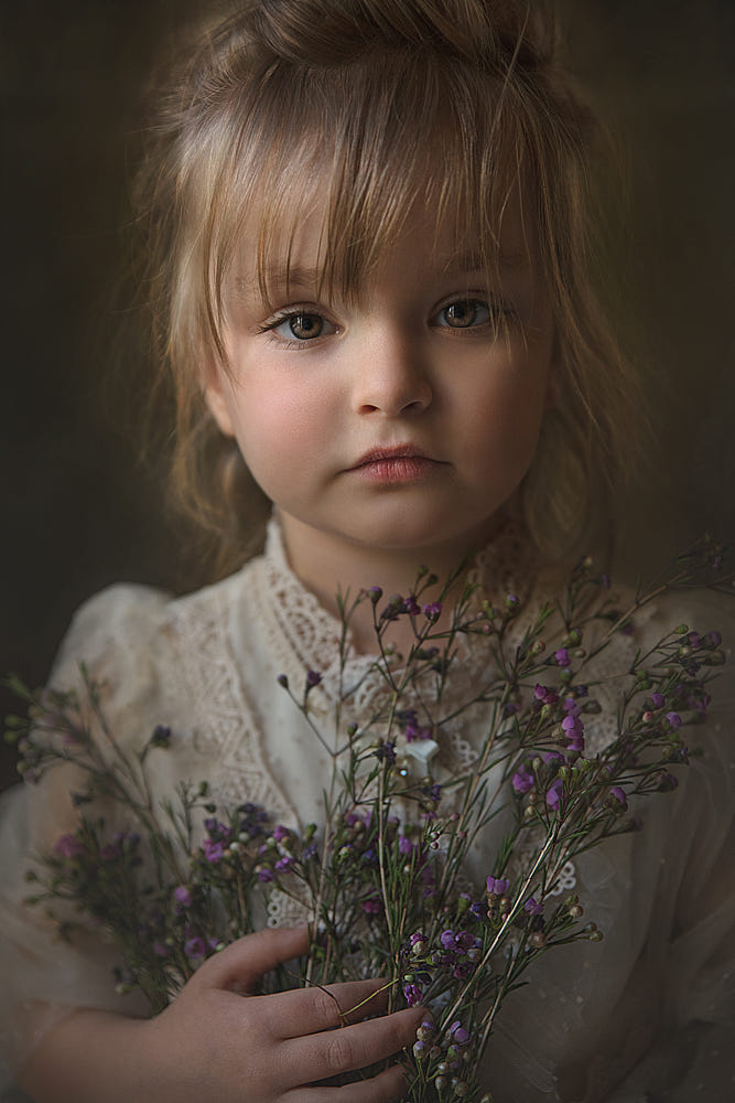 Girl with Purple Baby's Breath by Jessica Drossin / 500px