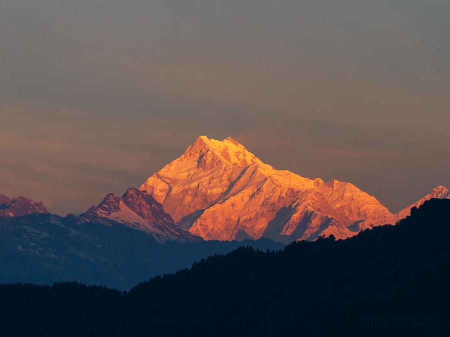 Kangchenjunga, Himalayas, dawn, morning, sinrise, Gangtok, Sikkim, India