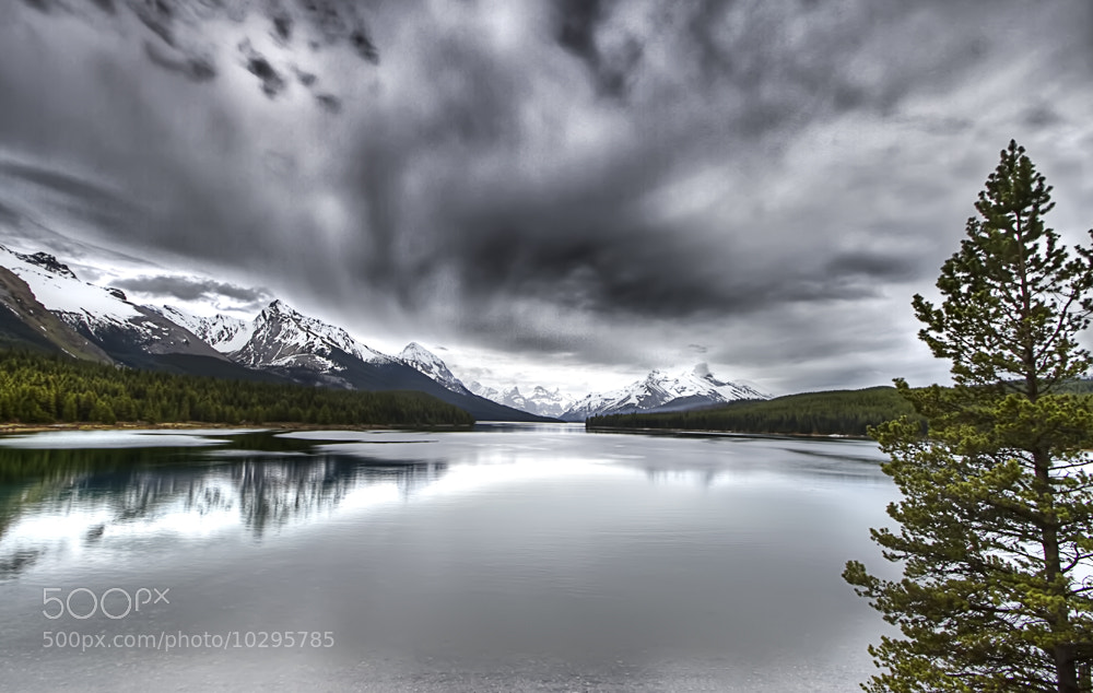 Photograph Maligne Lake HDR by Philippe Brantschen on 500px