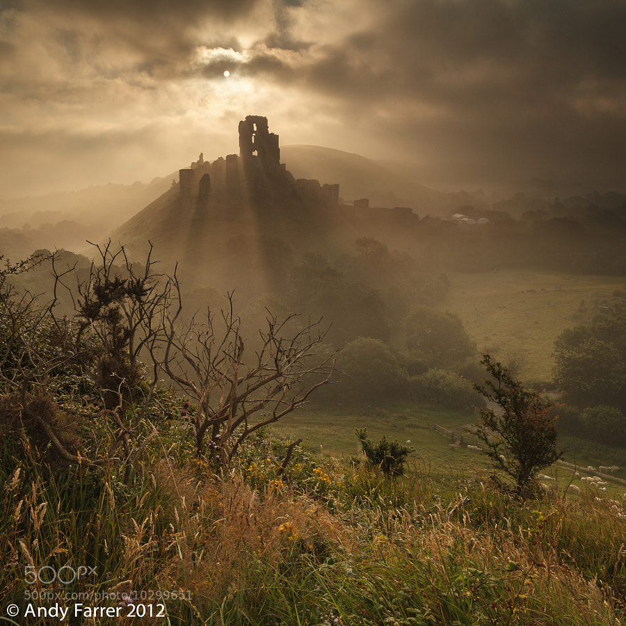 Photograph Corfe Castle in the Mist by Andy Farrer on 500px