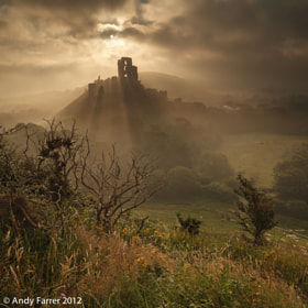 Corfe Castle in the Mist by Andy Farrer (AndyFarrer)) on 500px.com