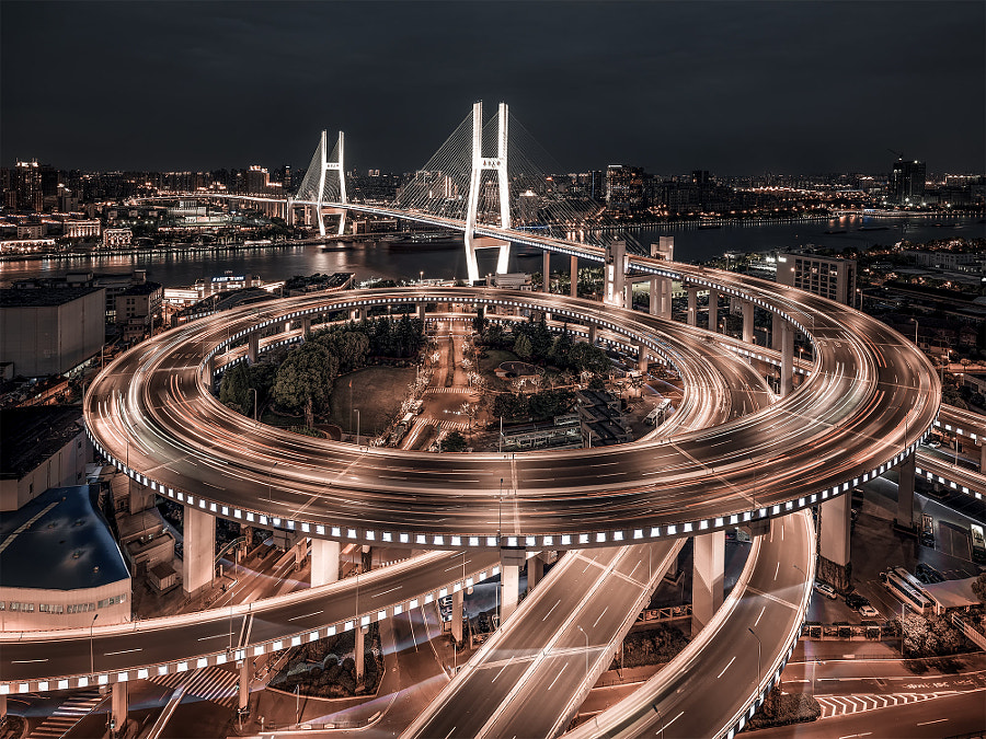 NanPu Bridge by Mark.C  on 500px.com