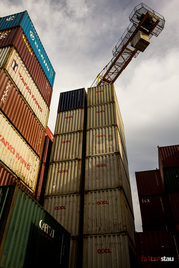 Photograph Stack of Containers by hitzestau on 500px