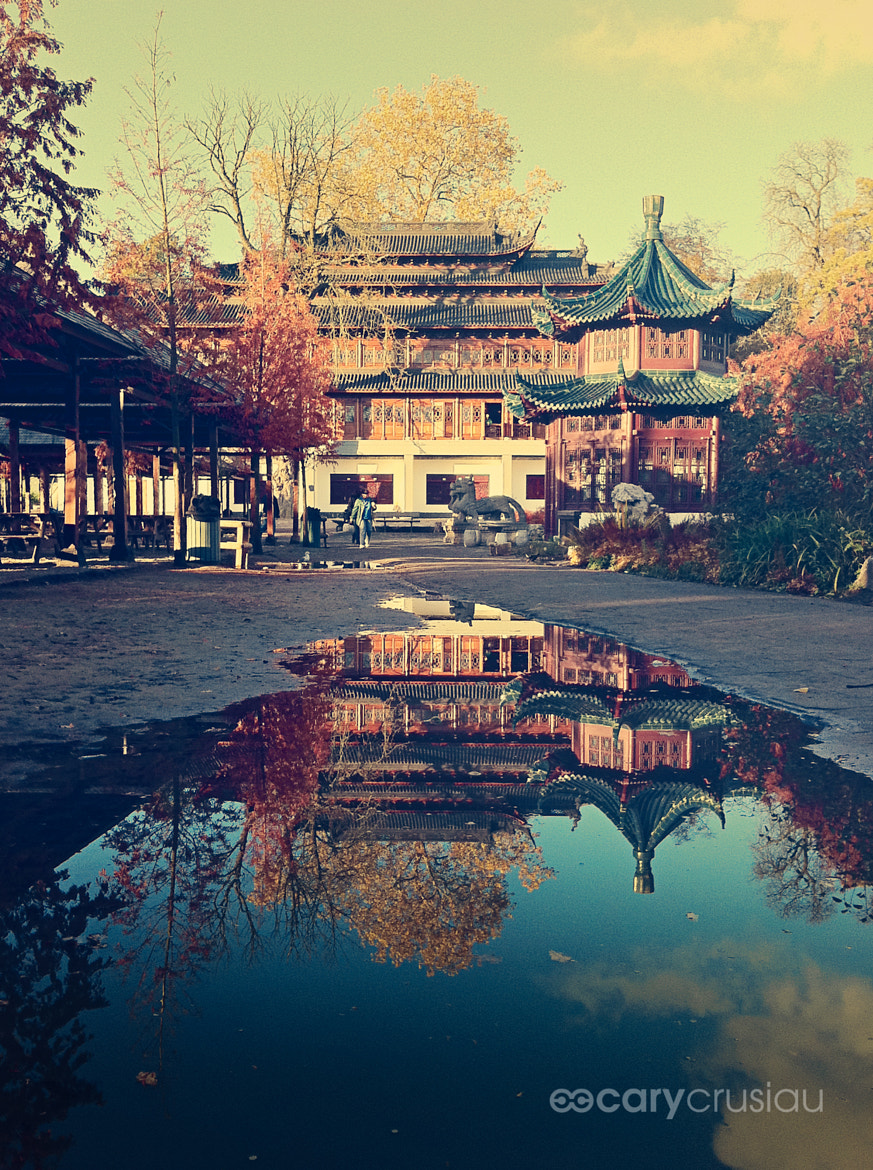 Photograph Reflection of a Chinese Pavilion by Cary Crusiau on 500px