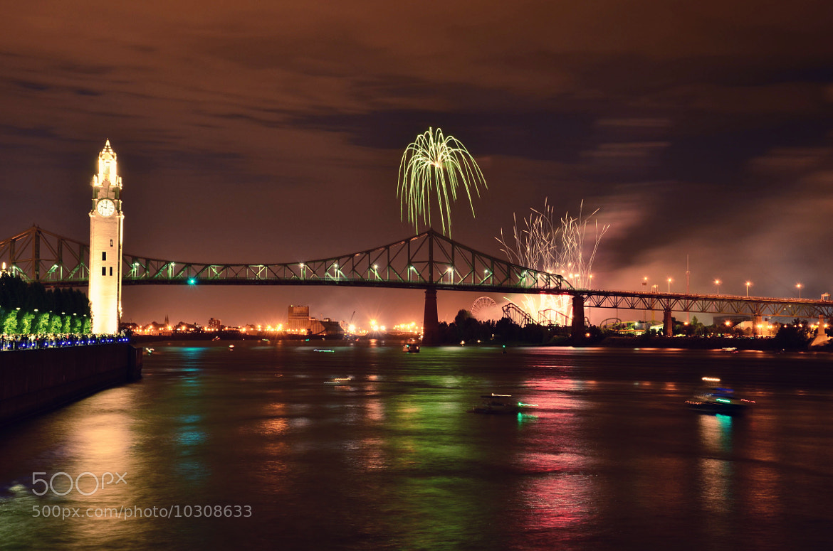 Photograph Fireworks in Montreal's old port by Amélie Roy on 500px