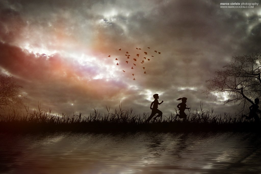 Photograph Children running by Marco Ciofalo Digispace on 500px