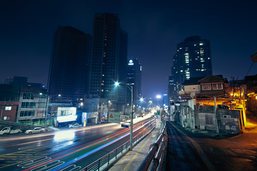 Photograph Seoul Night Scene by Loic Labranche on 500px