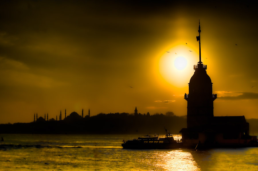 Photograph Sunset over the Bosphorus by Aaron Cobb on 500px
