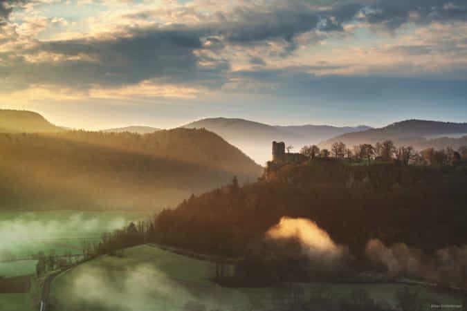 Spring Sun Castle by Kilian Schnberger