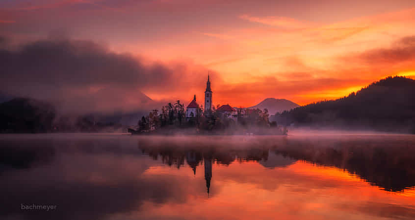 early morning on the lake by carsten bachmeyer