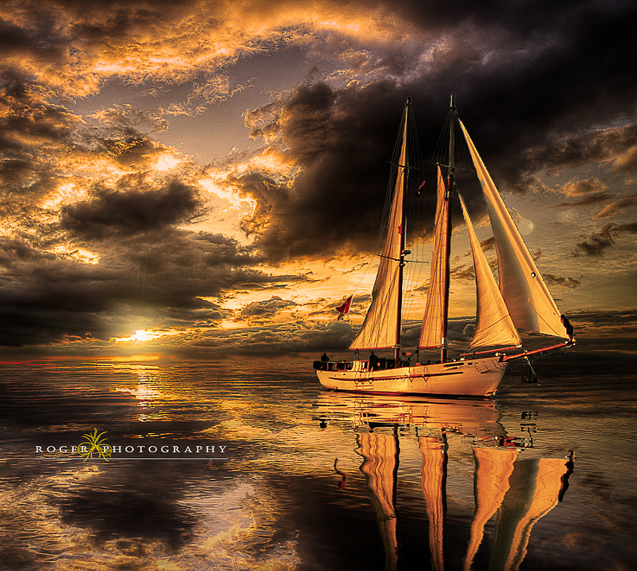 Sunset calm ... by Manuel Roger