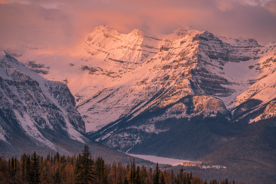 Lake Louise & Chateau Fairmont in Morning Sunlight by John S on 500px.com