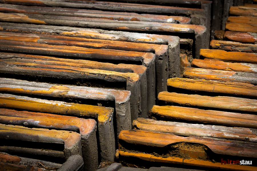 Photograph Stacked Roof Tiles by hitzestau on 500px