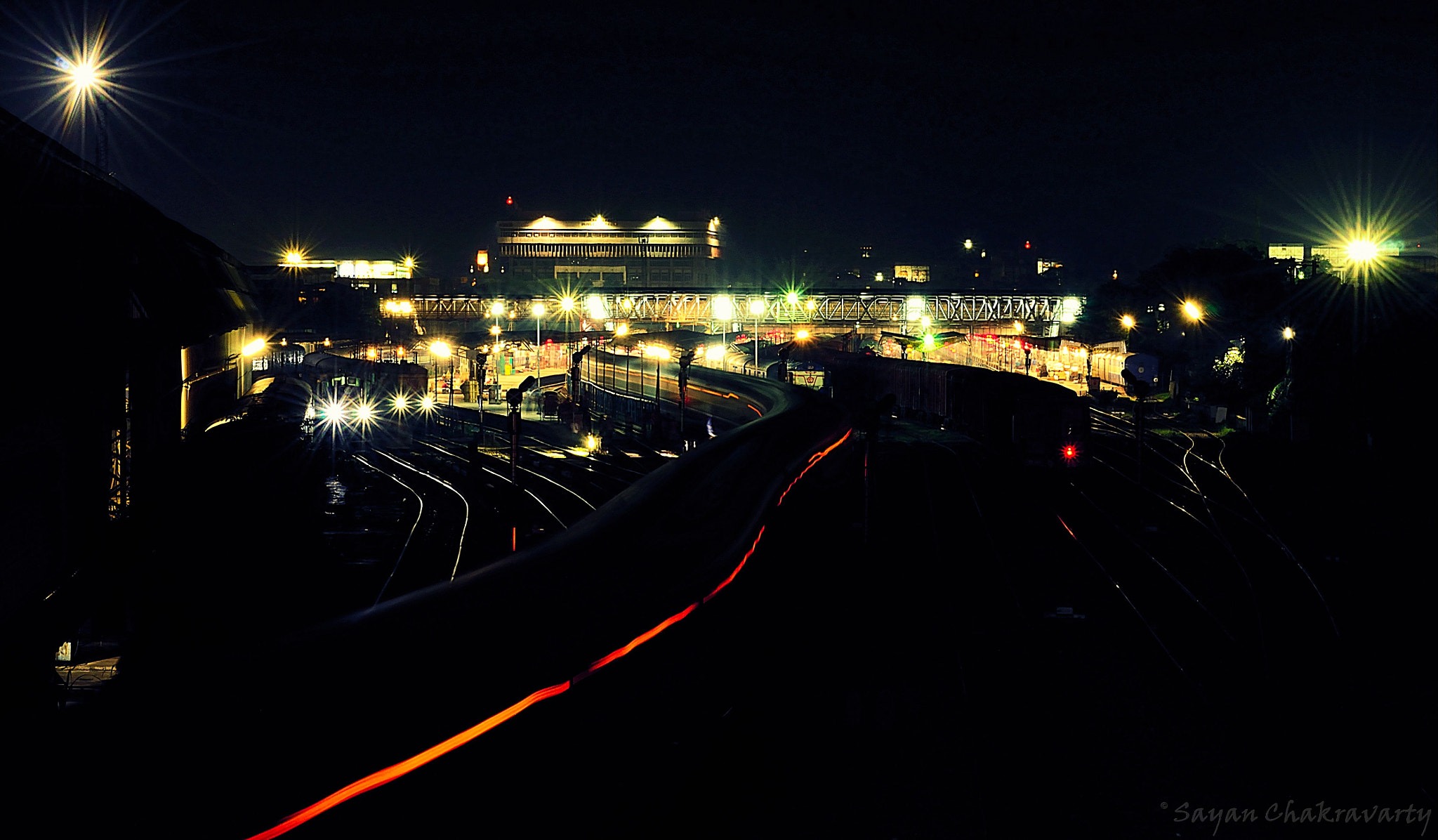 Photograph A train a staion and me... Guwahati by Sayan Chakravarty on 500px