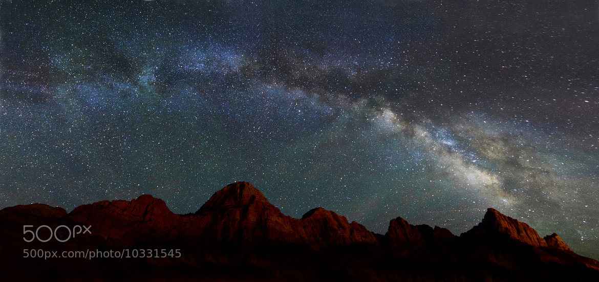 Photograph Milky Way over Zion by Bill Ratcliffe on 500px