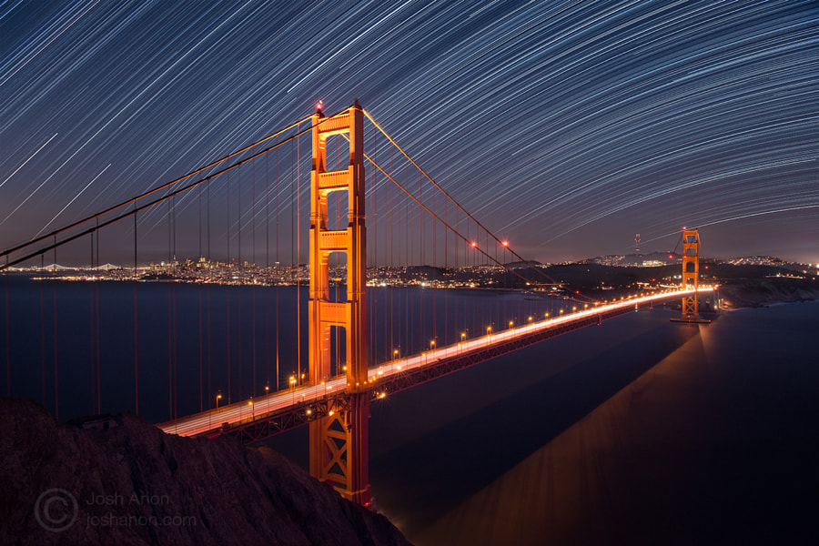 Stars Over San Francisco And the Golden Gate Bridge by Josh Anon on 500px.com