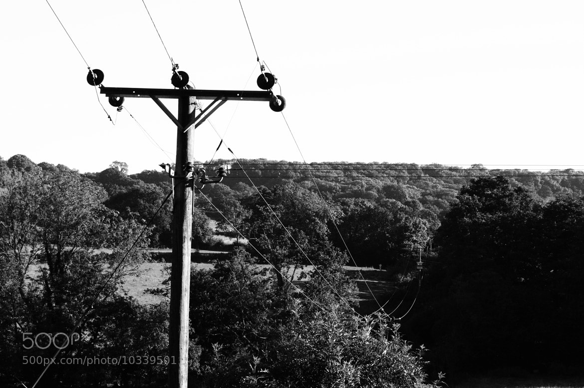 Photograph BW Telegraph Pole by George Parfitt on 500px