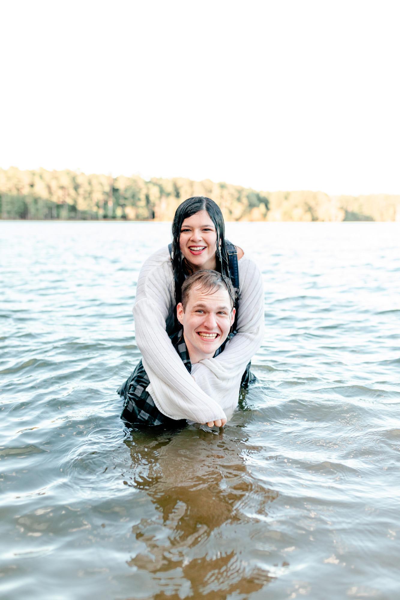 Jordan Lake Engagement Session