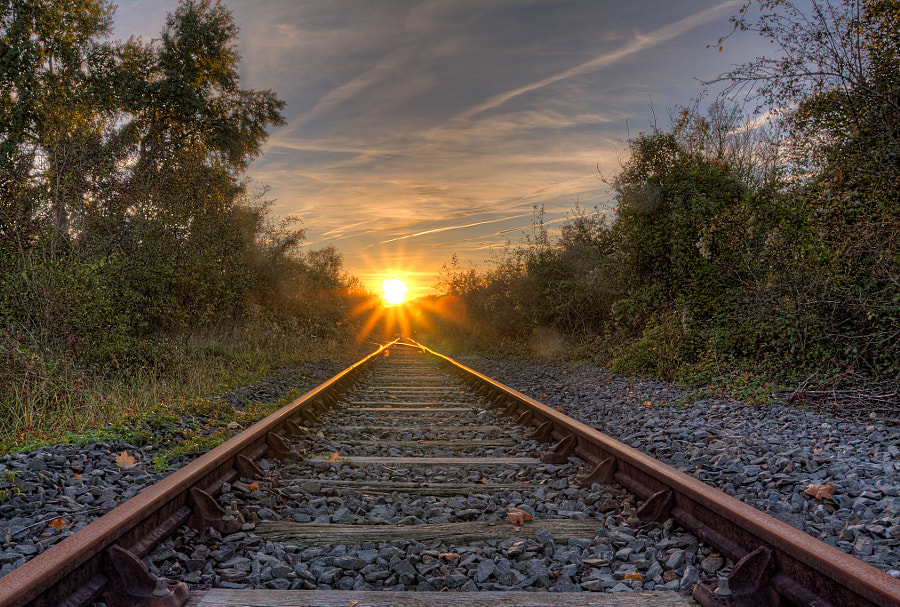 There is light at the end of the Track by Marcel de Groot on 500px.com
