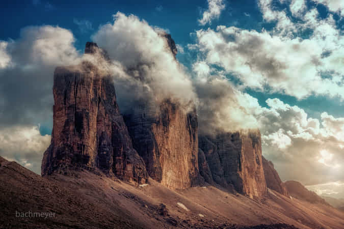 Tres Cime under Cloud Control by carsten bachmeyer