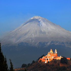 Iced Volcano and Church by Cristobal Garciaferro Rubio (CristobalGarciaferroRubio)) on 500px.com