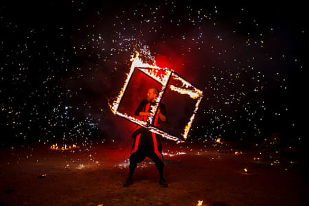 Fire show amazing at night by The Stillery x Natta Summerky on 500px