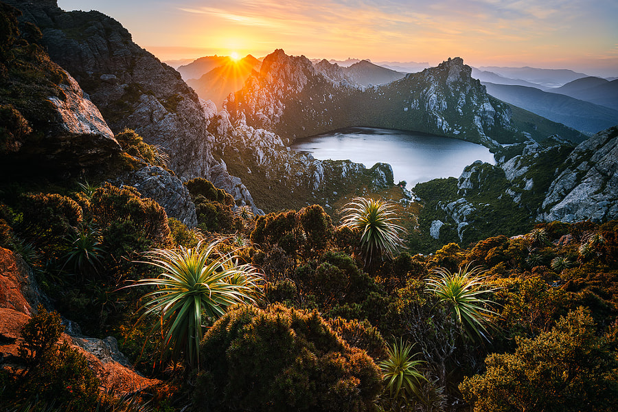 First rays over Oberon by Luke Tscharke