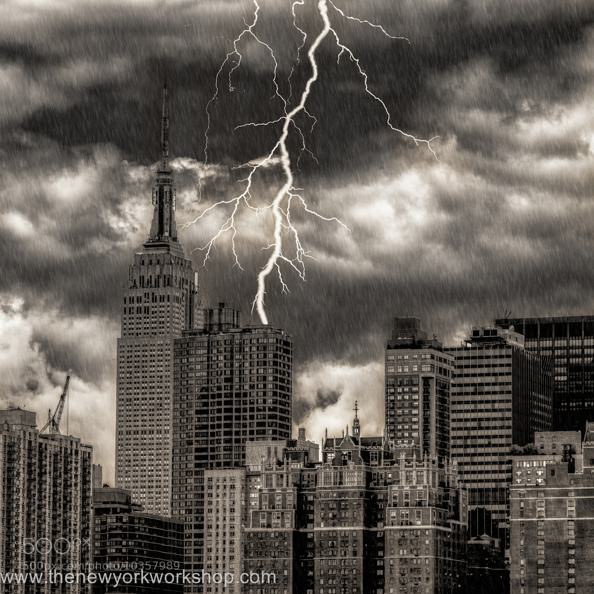 Photograph Empire State Lightning by regis boileau on 500px