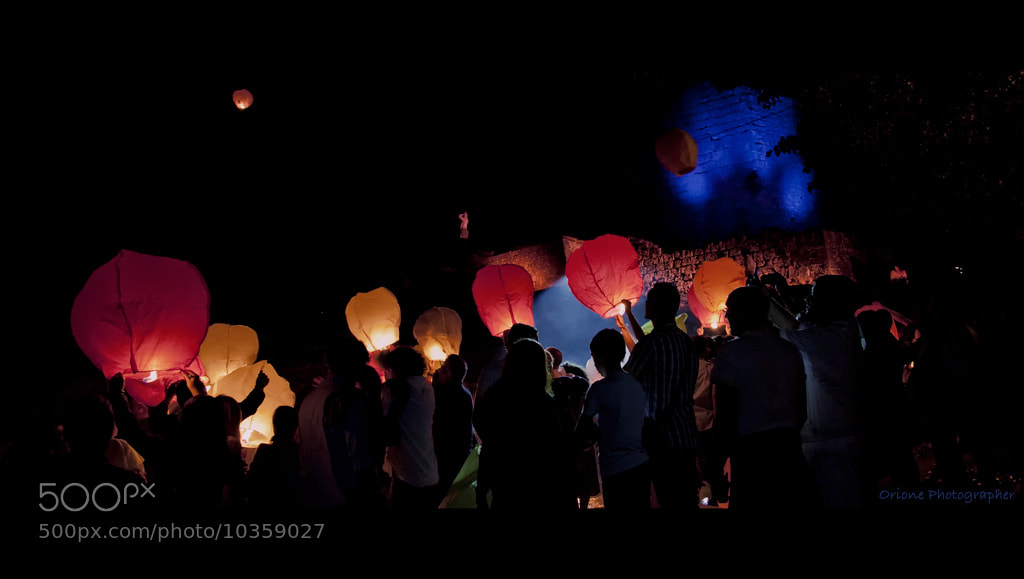 Photograph Lanterns in the night by laura  malucchi on 500px