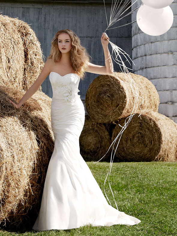 Photograph Modified Sweetheart Spring Natural Wedding Dress with Fleur Cotton Lace Bodice by fox gowndress on 500px