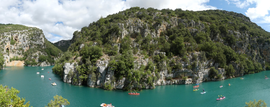 Verdon's canyon (ultra panorama) by Yves LE LAYO on 500px.com