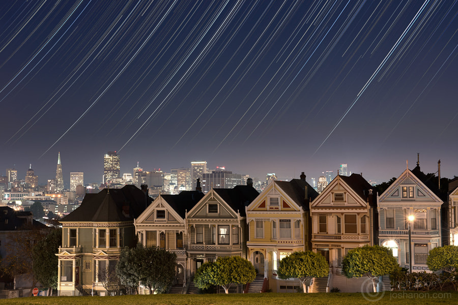 Stars Over the Painted Ladies by Josh Anon on 500px.com
