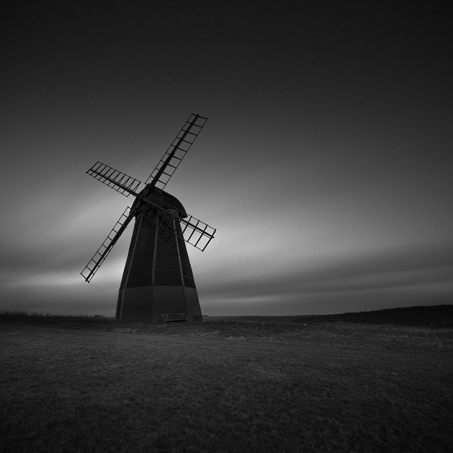 Rottingdean, windmill, Long exposure