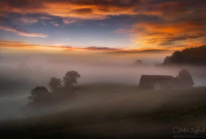 Moody sunrise by Peter Zajfrid