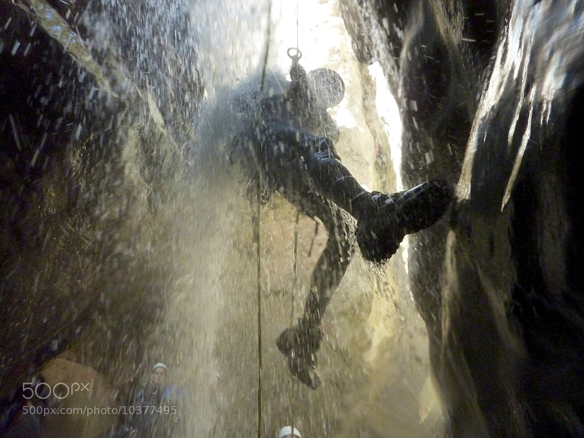 Photograph Rappeling under fall by Phil Erhart on 500px