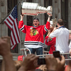 Постер, плакат: Patrick Kane and the Stanley Cup