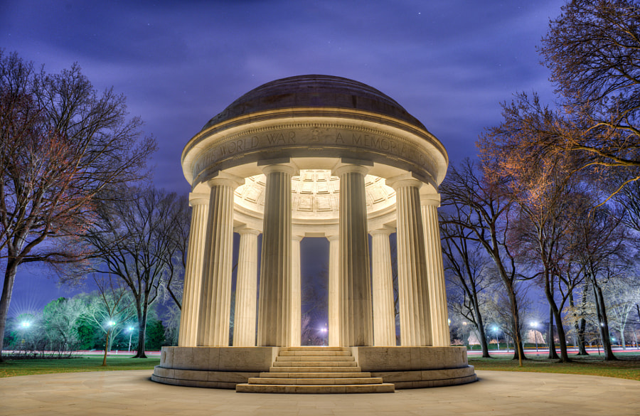 Washington D.C. at night - D.C. World War I Memorial by Konrad Dwojak on 500px.com