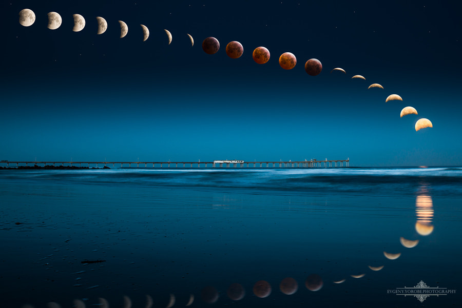 Photograph Bloody Moon by Evgeny Yorobe on 500px
