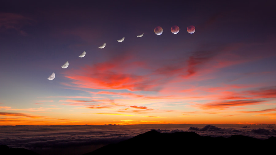 Photograph Blood Moon Haleakala by John Michel Alexander on 500px